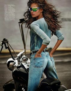 Cameron Russell by Mario Testino for Vogue Paris April 2014 _