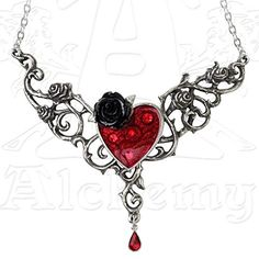 Blood Rose Heart Pewter Necklace Alchemy Gothic http://www.amazon.co.uk/dp/B00OBUWCC4/ref=cm_sw_r_pi_dp_.m9uub00N3KKK