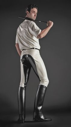 Leather, Rubber, Boots & Breeches Leather, Rubber, Boots & Breeches - Art Of Equitation Leather Fashion, Mens Fashion, Horse Riding Boots, Rubber Dress, Latex Men, Mens Leather Pants, Men In Uniform, Sexy Men, Tall Boots