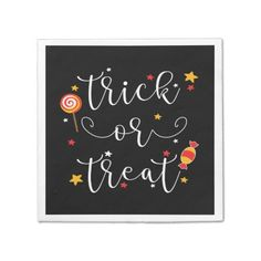 trick or treat halloween napkin - retro kitchen gifts vintage custom diy cyo personalize