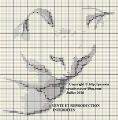 Free cross stitch patterns: shade of gray figure Chat - The Isabelle blog ~~ Uses DMC colors 414 / 3024 / 3172