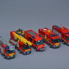 Custom LEGO City Fire Trucks