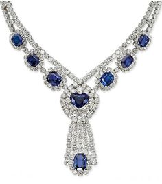 Sapphire and diamond necklace, part of a suite by Tabbah.