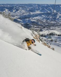 Dreaming of days like this!! #flashbackfriday To get the best deals on our powder days for this upcoming season don't forget to buy your pass before Monday. Link in bio.  Photo: Cam Mcleod  Skier: Dan Rihm .. .. .. @skiutah #waitingforwinter #skiutah #snowbasinresort #basinbuzz