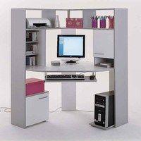 Bureau int gr avec option biblioth que lit escamotable for Meuble informatique fly