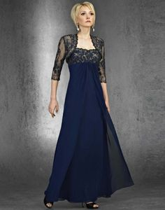 mother of the bride navy blue dresses with cap sleeves empire waist line buy