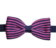 Pink and Navy Blue Knit Bow Tie. Mens Knit Bow Tie. Mens by Tietle, $15.00