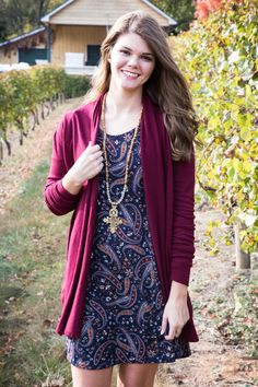 Love Always Cardigan, Burgundy