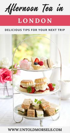 London afternoon tea: plan a memorable trip to England with these suggestions for afternoon tea in London. High tea London. via @untoldmorsels