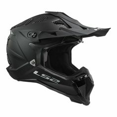 Lightweight MX style shell with a wide eye port for added safety and vision. Ls2 Helmets, Motocross Helmets, Off Road Helmets, Off Road Racing, Cycling Accessories, Black Flats, Matte Black, Offroad, Bike