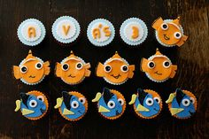 nemo themed cupcakes! by { coco cake cupcakes }, via Flickr