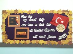 Atatürk panosu Class Projects, School Projects, Republic Day, Border Design, Bulletin Boards, High School, Preschool, Classroom, Teaching