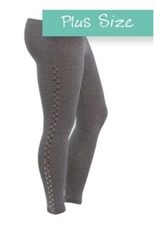 Plus Size Legging with Studs