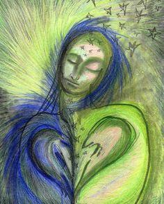 77 眠り sleep.  SoulTouch Coloring Journals created by Deborah Koff-Chapin.  Colored by 田中 洋一郎 ( Yo+ichirou Tanaka )  #タッチドローイング #TouchDrawing #SoulTouch塗り絵 #SoulTouchColoringJournals #ソウルタッチ塗り絵 #コロリアージュ #大人の塗り絵 #coloriage #仙台 #sendai #coloring #creativelycoloring #coloringforadults #coloringbook #coloringbookforadults #coloringforadult #おとなの塗り絵 #おとなのぬり絵 #おとなのぬりえ #adultcoloringbook #プリズマカラー #カリスマカラー #prismacolor #karismacolor #透明クレヨン #clearcrayon