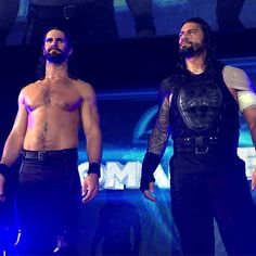 wwe #RomanReigns and @wwerollins stood tall at the end of #WWERotterdam.  #BelieveThat Rotterdam, Netherlands 2017/05/15 01:36:03