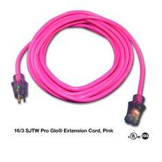 Milspec Direct 25-Foot 16-Gauge SJTW Pro Glo Lighted Outdoor Extension Cord, Pink - Amazon.com