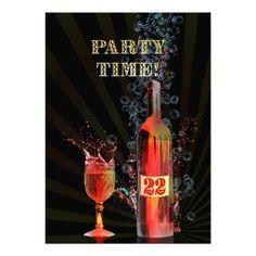 22nd birthday party invitation
