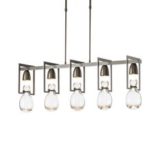 Pendants Products – Hubbardton Forge Dark Smoke, Linear Chandelier, Kitchen Lighting, Candle Sconces, Clear Glass, Bronze, Ceiling Lights, Sloped Ceiling, Kitchens