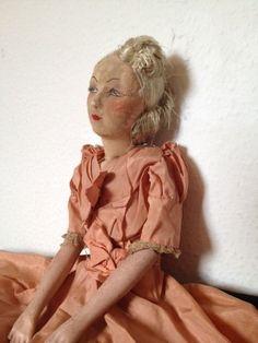 Antique Genuine French Boudoir Doll 1920 30 | eBay
