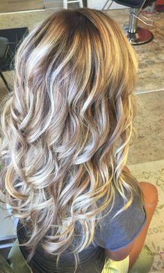 Blonde balayage. Kenra lightener/Kenra Demi Image source