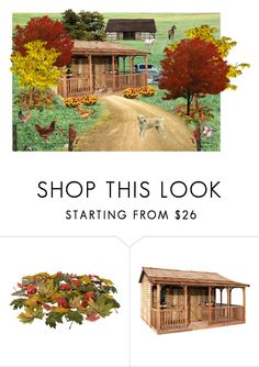 """Autumn Homestead"" by elizabeth-pride ❤ liked on Polyvore featuring interior, interiors, interior design, home, home decor, interior decorating and Fulton"