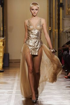 Oscar Carvallo Spring 2013 Couture Collection - This could be my personal gladiator dress!!