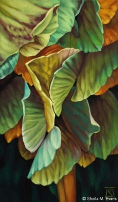 Sheila M Evans Education Gonzaga University, Spokane, Washington. Pastel Drawing, Pastel Art, Painting & Drawing, Raindrops And Roses, Flower Artists, Tropical Art, Leaf Art, Floral Watercolor, Painting Inspiration