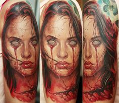 Realistic Horror Tattoo by Dmitriy Samohin | Tattoo No. 13600