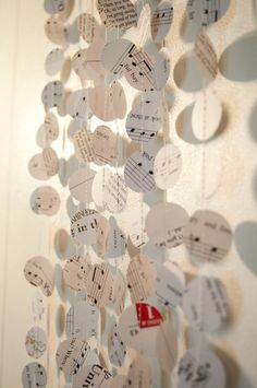 Music Note Paper Garland