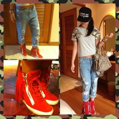 e82fa2a368bc4 giuseppe zanotti suede fringe wedge sneakers | Absolutely Fobulous