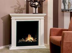 Bioethanol wall-mounted corner fireplace CADIZ CORNER by BRITISH FIRES