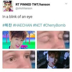 CHERRY BOMB HAECHAN IS THE HOTTEST FUCKING THING