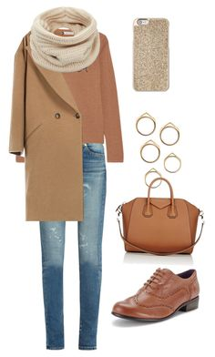 """""""Cold spring outfit"""" by anastasia-zvolinskaya on Polyvore featuring мода, Yves Saint Laurent, Lingua Franca, Clarks, Givenchy, Helmut Lang и Michael Kors"""