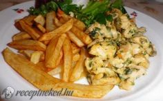 Sajtos petrezselymes csirkemell recept fotóval Hungarian Recipes, Bbq Chicken, Family Meals, Poultry, Potato Salad, Hamburger, Crockpot, Cabbage, Dinner Recipes