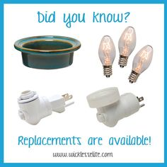 Did you know we carry replacement parts for your Scentsy products. Check them out.