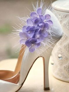 I love corsages on shoes! They just add a little extra something.