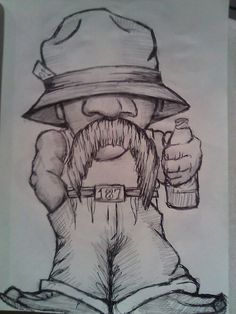 Vato by sunnofnunn more pencil and ink my drawz. Gangster Drawings, Badass Drawings, Cool Art Drawings, Art Sketches, Graffiti Art, Graffiti Drawing, Cartoon Tattoos, Cartoon Drawings, Cartoon Art
