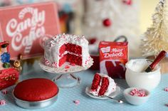 Miniature Christmas Red Velvet Cake Baking Set by CuteinMiniature