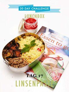 """So kurz vor Schluss meiner 30 day challenge ist mir noch ein tolles Kochbuch in die Hände gefallen. """"Essen to go"""" heißt es und zielt genau auf meine Lunchbox-Bedürfnisse ab."""