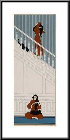 "Will Barnet - "" The White Stairway "" - 1974"