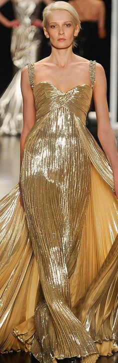 Gold Gown Georges Chakra Couture