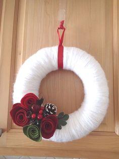 Rojo rosa nieve blanco hilado guirnalda de la por saffronfields