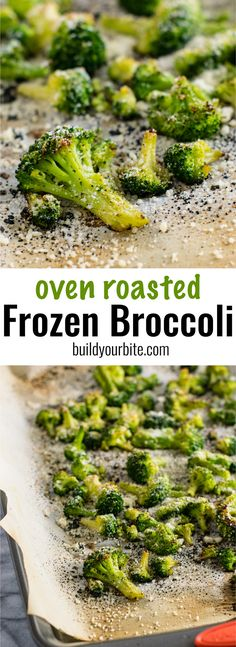 Oven roasted frozen broccoli is a dinner time game changer. Need a vegetable side dish in a hurry? This is your answer! NO thawing and ready for the oven in two minutes!