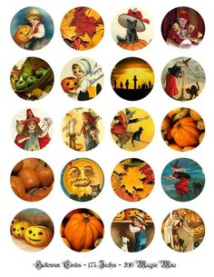 Halloween Digital Collage Sheet For Paper Craft