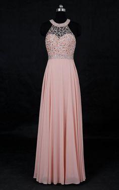 Custom made Long Pleated Chiffon Evening Prom Dresses