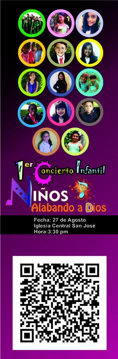 http://www.josephaleman.com/conciertoinfantil/ descarga el Programa. Niños alabando a Dios. Iglesia Adventista Central de San José. Directora: Joseph Alemán. Diseño: Joseph Alemán