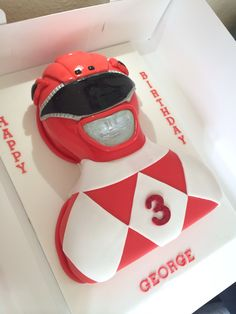 Power ranger cake, with chocolate sponge and chocolate butter cream. By CORALICIOUS CAKES