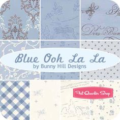 Blue Ooh La La Jelly Roll  Bunny Hill Designs for Moda Fabrics