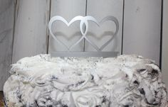 Wedding Cake Topper /Hearts/Double Hearts /Cake Decor/Your Initials/Top of Cake/In-twined Hearts