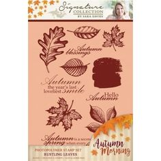 Crafter's Companion Sara Signature Autumn Morning Photopolymer Stamp - Rustling Leaves - Crafter's Companion from Crafter's Companion UK